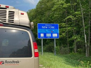 Into New York State