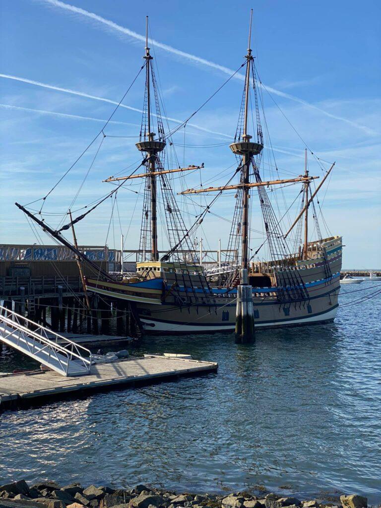 The Mayflower II. A replica of the original in Salem.