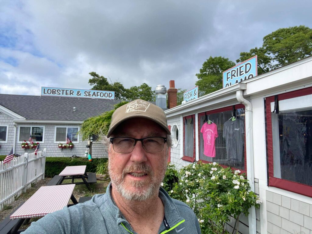Lobster joint on Cape Cod where I ate clams.