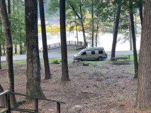 Camping at Lake Lurleen in Alabama.