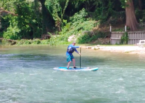 Paddle Boarding on Guadalupe River